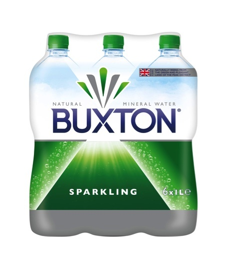 Buxton Sparkling Natural Mineral Water Bottle 6 x 1L Pack