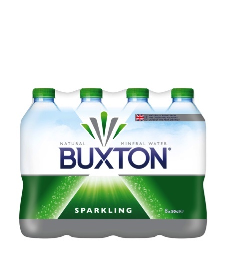 Buxton Sparkling Natural Mineral Water Bottle 8 x 50cl Pack