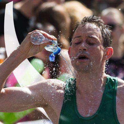Marathon Runner with Bottle of Buxton Water 2 - Buxton Water