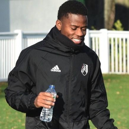 Ryan Sessegnon, a player for Fulham Football Club sponsored by Buxton Water